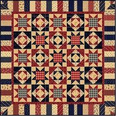 I think I would enjoy making this one. Love the Red, White, and Blue.