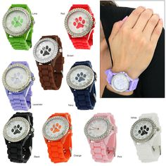 Paw Print Silicone Watch at The Animal Rescue Site