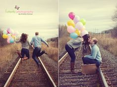 I love the idea of bright colorful balloons in pictures. I want to do that with my kids