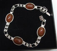Silberarmband+835+mit+rotem+Achat+L19+cm++SA127+von+Atelier+Regina++auf+DaWanda.com