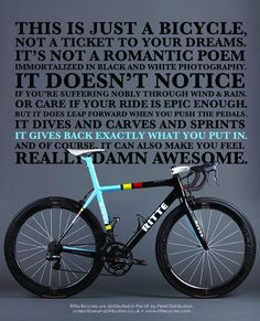 As a beginner mountain cyclist, it is quite natural for you to get a bit overloaded with all the mtb devices that you see in a bike shop or shop. There are numerous types of mountain bike accessori… Bike Quotes, Cycling Quotes, Cycling Art, Road Cycling, Cycling Bikes, Cycling Jerseys, Cycling Equipment, Indoor Cycling, Bicycle Race