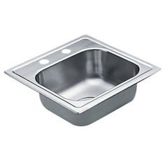 MOEN 2200 Series Drop-in Stainless Steel 15 in. 2-Hole Single Bowl Bar Sink-G2245622 - The Home Depot