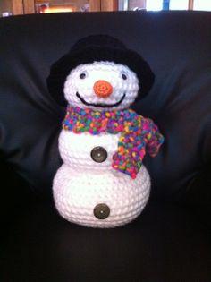 Gehaakte sneeuwpop voor me moedertje gemaakt