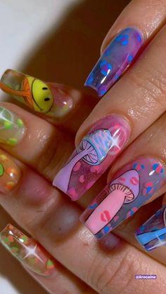 Colored Acrylic Nails, Bling Acrylic Nails, Summer Acrylic Nails, Best Acrylic Nails, Coffin Nails, Summer Nails, Spring Nails, Glitter Nails, Purple Nails