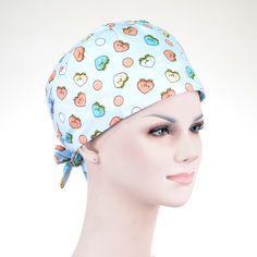 eb719fe9ded Unisex Hospital Medical Caps 100% Cotton Printed Surgical Caps Scrub Lab  Clinic Dental Operation Caps