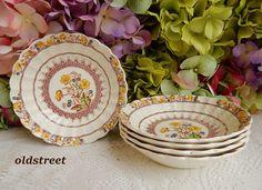5 Beautiful Spode Bowls ~ Buttercup ~ Older Mark #Spode