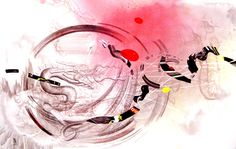 Yuan Shun  A Hundred Million Years' Years Landscape #28  2010  Colour on Paper    125 x 200 cm