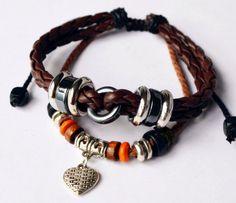 Charm Bracelets Leather Bracelet Bangle Bracelet by littlemistore, $6.50