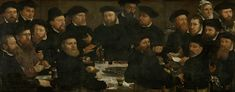 Dirck Barendsz, 1566 - Banquet of Eighteen Guardsmen of Squad L, Amsterdam 1566 - art print, fine art reproduction, wall art Baroque Painting, Gustave Courbet, Still Life Fruit, Renaissance Paintings, Fine Art Prints, Canvas Prints, European Paintings, Canvas Paper, Old Master