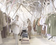 Arnsdorf, a small fashion brand in Melbourne, opened a three-day store designed by Edwards Moore.