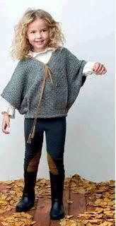 Ropa para niñas para este Invierno 2014 con la moda infantil de Pilar Batanero Teen Girl Fashion, Toddler Fashion, Kids Fashion, Knitting For Kids, Baby Knitting, Outfits Niños, Fashion Outfits, Knitted Poncho, Stylish Kids