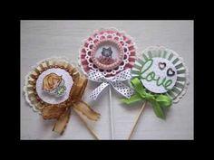 Lollipop card, rosette tutorial - YouTube