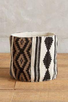 Anthropologie Tapestry Basket