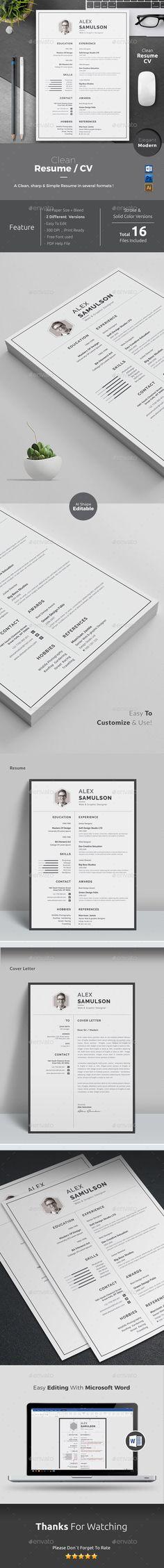 Resume Modern resume Resume cv