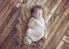 Cream Cheese Cloth Newborn Baby Girl or Boy Cocoon Wrap, Great for Photo Prop
