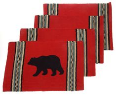 Look what we just added: Bear Silhouette P... Get one now! http://funsationalfinds.com/products/bear-silhouette-placemats-set-4-red-12-x-18-rustic-lodge-virah-bella-cotton?utm_campaign=social_autopilot&utm_source=pin&utm_medium=pin
