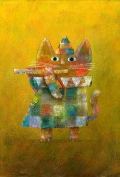kitty playing music...