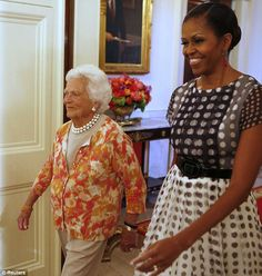 Familiar surroundings: The former president said it was like 'coming home' for he and his wife Barbara.