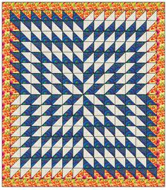 Many people have seen Jenny from Missouri Star Quilt Company's video on making a quilt she calls Starburst, and would like to make it bigger. Yes, I am breaking another rule, because … Half Square Triangle Quilts Pattern, Half Square Triangles, Square Quilt, Star Quilts, Quilt Blocks, Barn Quilt Patterns, Quilting Patterns, Missouri Star Quilt, Stars