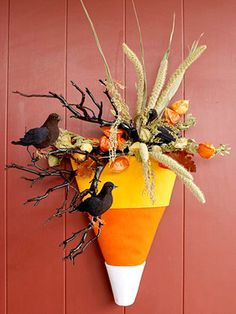 This is so cute, & would be so easy to fill in with twigs/etc from the yard during fall.