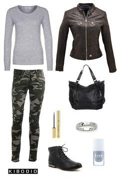 Eprit militaire avec le pantalon camouflage #fashion #style