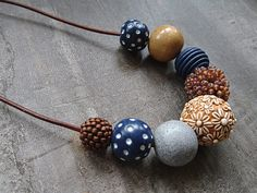 Brown and Navy Neckl
