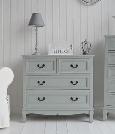 Berkeley Grey tallboy narrow chest of drawers Ideas in decorating. Range of cottage furniture available online with fast delivery from The White Cottage chic furniture ideas chic furniture diy chic furniture living room chic furniture white Shabby Chic Grey Bedroom, Rustic Shabby Chic, Shabby Chic Homes, Shabby Chic Bedroom Furniture, Cottage Furniture, White Cottage, Furniture Ideas, Painted Furniture, Affordable Furniture