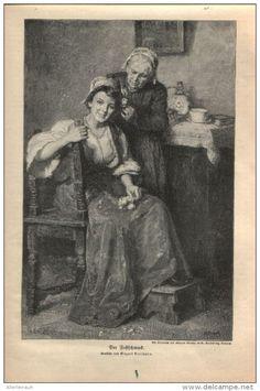 """Der Festschmuck - Druck, entnommen   aus """"die Gartenlaube"""", 1909"""