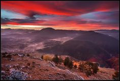 Sunset in Rhodope Mountains #mountains #sunset #nature #beautiful #landscape #forest