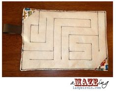 kid gift-felt fabric maze-use a marble or flat rock to go through the maze