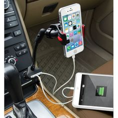 The Dual iPhone-Charging Car Mount from Hammacher Schlemmer.