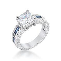 Prima Donna Sapphire Blue Cubic Zirconia Ring