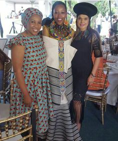 Tswana Traditional Dresses For Wedding Party - Styles South African Fashion, African Fashion Designers, African Inspired Fashion, Africa Fashion, Xhosa Attire, African Attire, African Print Dresses, African Dress, African Prints