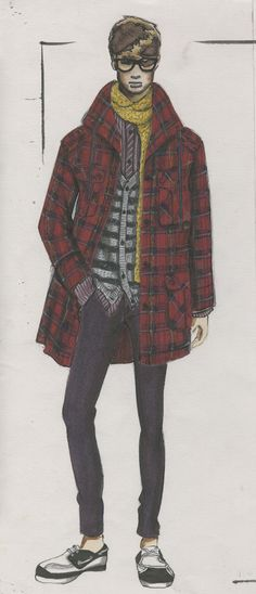 Illustration & Design by Amee Santos for Band of Outsiders 2008 | Otis Fashion