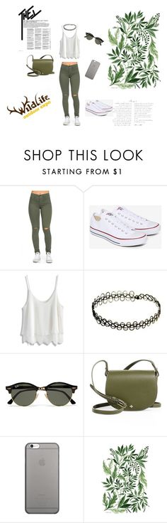 """""""Bez naslova #19"""" by munevera-berbic ❤ liked on Polyvore featuring Converse, Chicwish, Ray-Ban, Tory Burch and Native Union"""