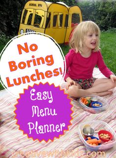 Even if you're not packing lunches to send to school, a little menu planning can save busy moms time! Do you plan lunches for your kids?