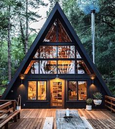 Perfect Diy A Frame Cabin Ideas Diy A Frame Cabin - This Perfect Diy A Frame Cabin Ideas wallpapers was upload on January, 3 2020 by admin. Here latest Diy A Frame Cabin design colle. Tiny House Cabin, Cabin Homes, Rural House, Cabin Design, Tiny House Design, Wood House Design, Home Design, Kit Homes, Style At Home