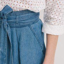 Gonna midi in jeans Jeans blu medio