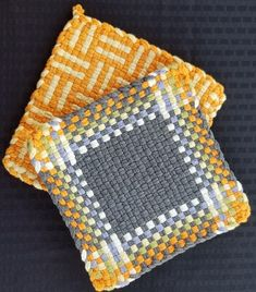 Items similar to Potholders Handmade Cotton Handmade Machine wash, Lay Flat to Dry on Etsy Potholders Handmade Cotton Handmade Machine wash, Lay Flat to Dry Weaving Loom Diy, Pin Weaving, Loom Craft, Weaving Art, Tapestry Weaving, Potholder Loom, Potholder Patterns, Loom Bands, Weaving Textiles