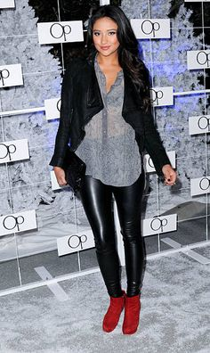 Actress Shay Mitchell arrives for the OP 'Winter Wonderland' Party held at Siren Studios on November 16 2011 in Hollywood California