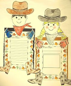ON SALE for today only Add a Cowboy and Cowgirl Glyph to your lesson about cowboys. This glyph and craftivity includes a writing prompt that's part of each cowboy or cowgirl. Cowboy Theme, Western Theme, Cowboy And Cowgirl, Cowboy Art, School Themes, Classroom Themes, School Ideas, Magic Treehouse, Reading Street
