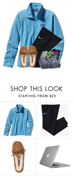 """Sick day I've been binge watching stranger things"" by cora-g77 ❤ liked on Polyvore featuring Patagonia, NIKE, UGG Australia, Speck and UGG"