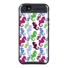 Seahorses Pattern Nautical Beach Theme Gifts iPhone 5 Cases