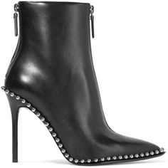 Alexander Wang Eri studded leather ankle boots (3.655 BRL) ❤ liked on Polyvore featuring shoes, boots, ankle booties, ankle boot, booties, botas, black leather ankle booties, high heel bootie, black ankle boots and black leather bootie