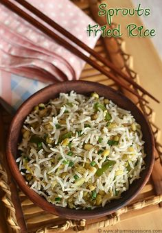 Sprouts Fried Rice Recipe - How to make fried rice