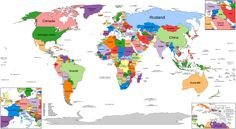 Political map world since 2014 Dutch - Lijst van landen in 2016 - Wikipedia