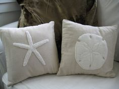 starfish pillow cover by pillowhappy on Etsy
