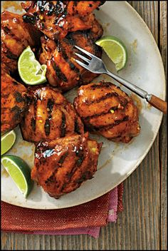 Tequila-Glazed Grilled Chicken Thighs
