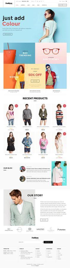 WooCommerce Fashion WordPress Theme – Fashion Plus  #topwordpressthemes2016…