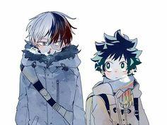 Shouto, Izuku, cute, yaoi; My Hero Academia